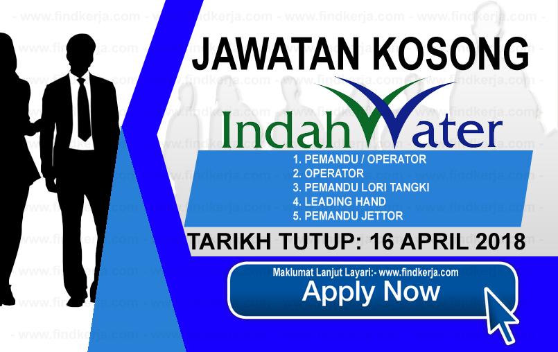 Jawatan Kerja Kosong IWK - Indah Water Konsortium logo www.findkerja.com april 2018