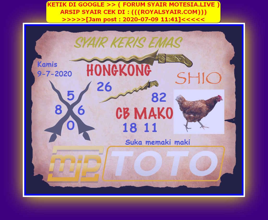 Kode syair Hongkong Kamis 9 Juli 2020 279