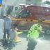 Acidente com moto na av. Leão Veloso