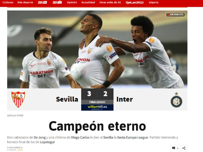 """Sevilla hạ Inter, vô địch Europa League: Báo Italia chỉ mặt """"tội đồ"""" Lukaku 3"""