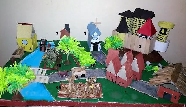 manorial community diorama