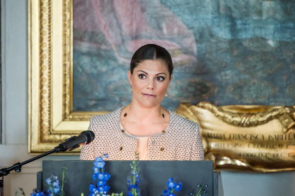 Crown Princess Victoria of Sweden opened a new exhibition on Queen Hedvig Eleonora at Gripsholm Castle