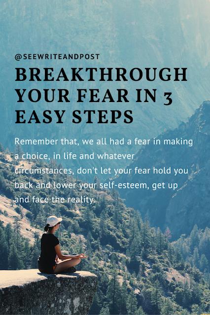 Breakthrough your fear | seewriteandpost.com