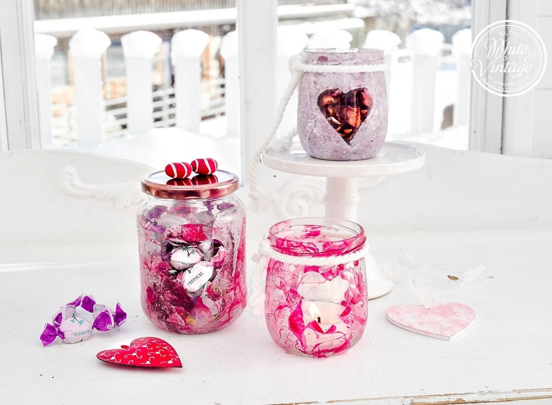 DIY-Anleitung Gläser mit Nagellack marmorieren