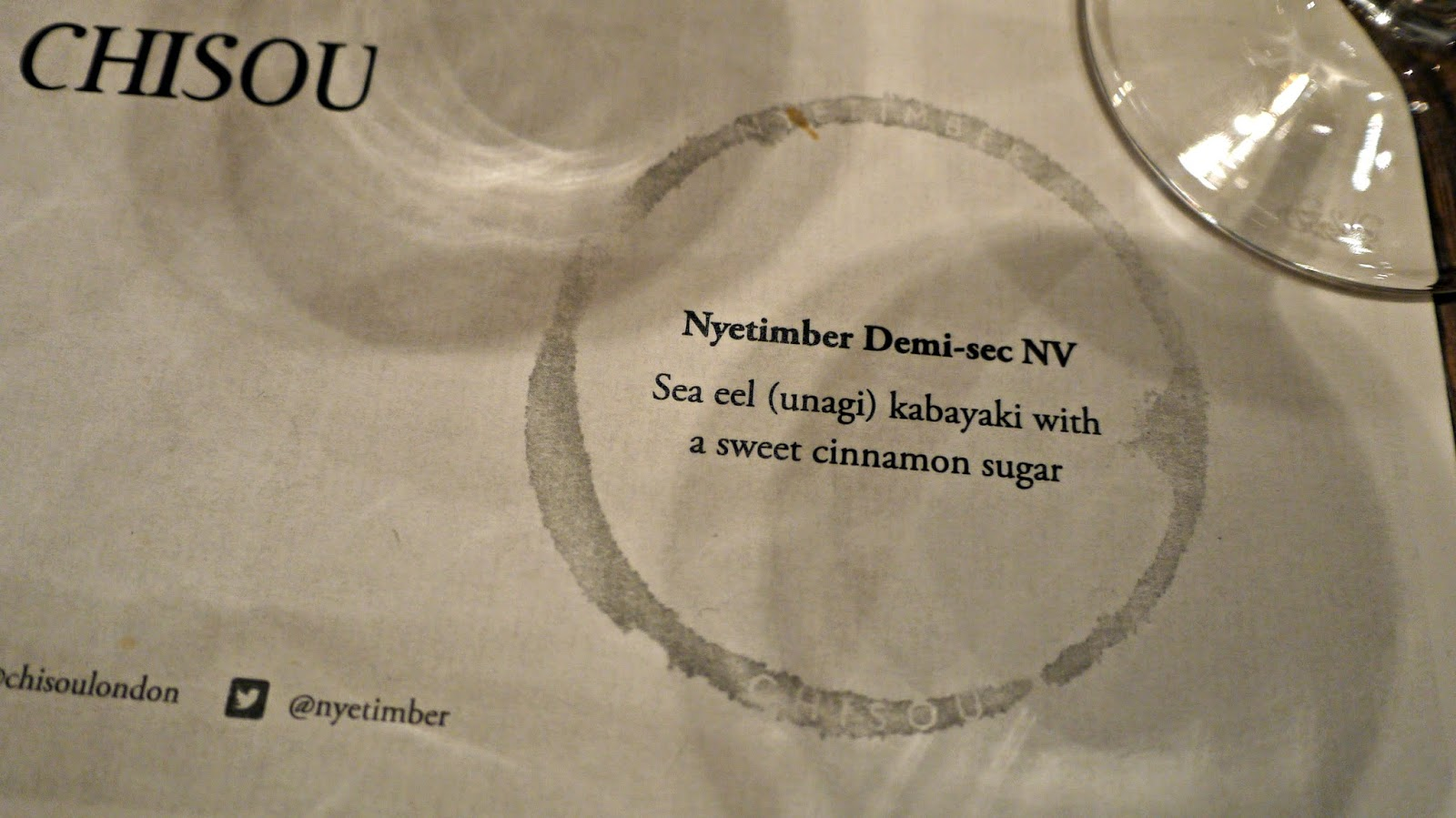 Nyetimber and Chisou tasting event
