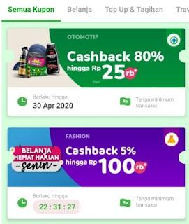 Promo Cashback Aplikasi Tokopedia