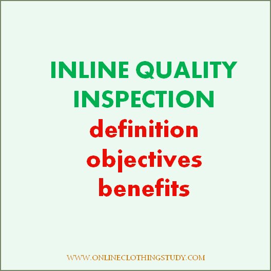 Inline quality inspection in the garment industry