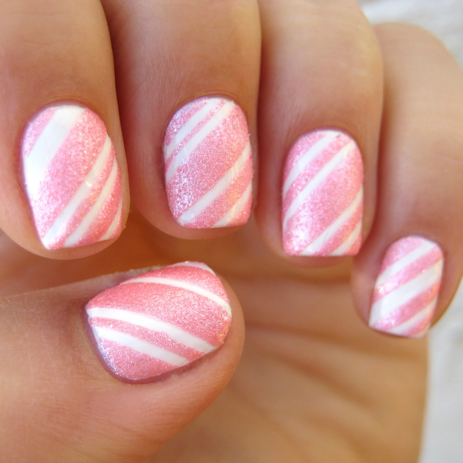 Dahlia Nails: Candyfloss Candy Canes