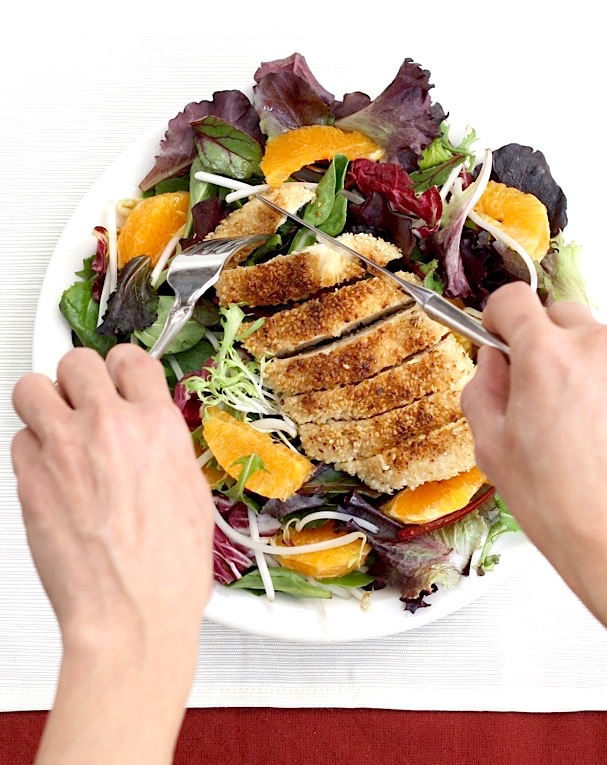Sesame Chicken Salad by SeasonWithSpice.com
