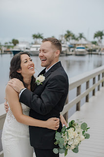 romantic bride and groom photo at the Westin