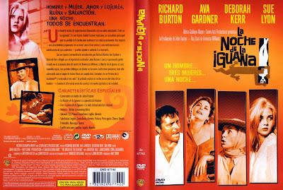 Carátula dvd: La noche de la iguana 1964