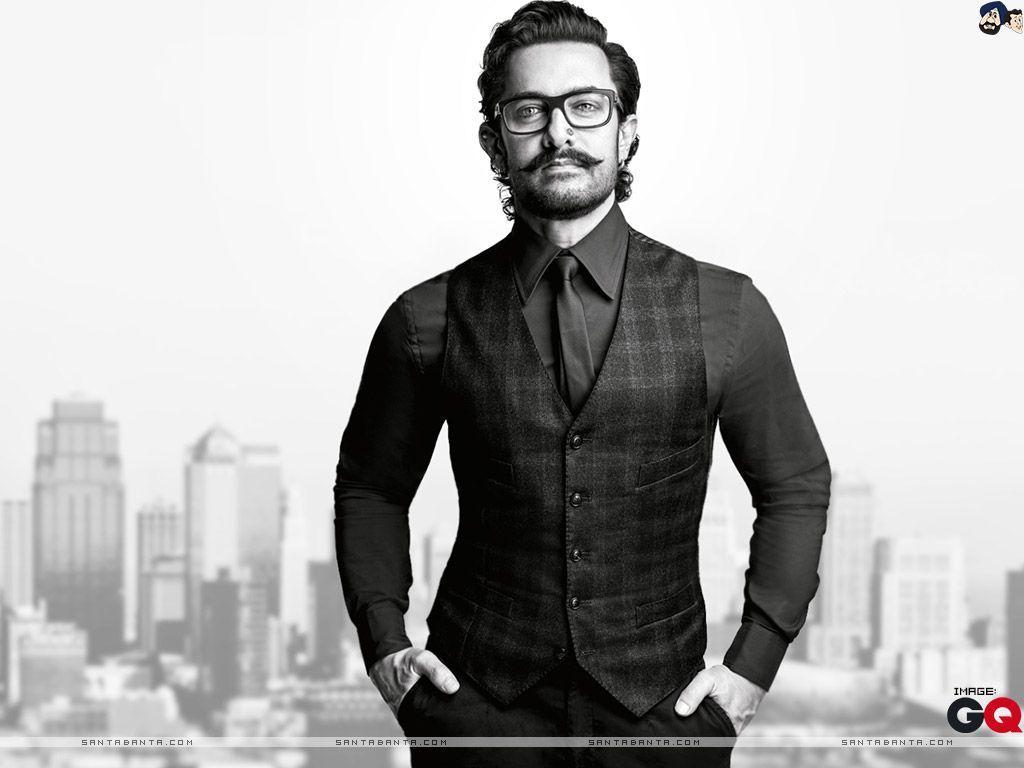 Aamir Khan In Moustache