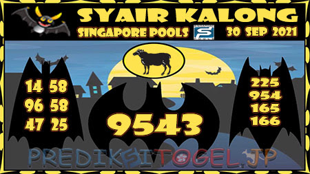 Syair Kalong Togel Singapura Kamis 30-09-2021