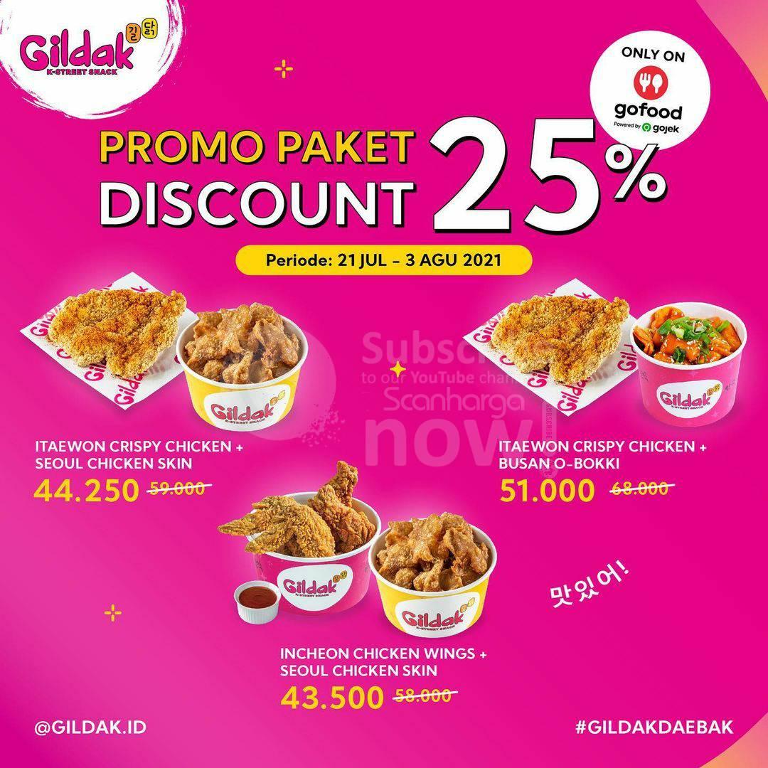 Promo GILDAK Paket Diskon 25% untuk pemesan via Gofood