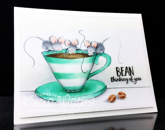 Sassy Cheryl's, Kecia Waters, mice, coffee, Copic markers