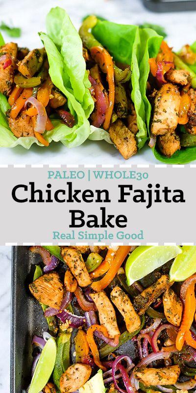 CHICKEN FAJITA BAKE (PALEO + WHOLE30)  #Easy #simplirecipe #Instantpot #Bangbang #Shrimp #Pasta #vegan #Vegetables #Vegetablessoup #Easydinner #Healthydinner #Dessert #Choco #Keto