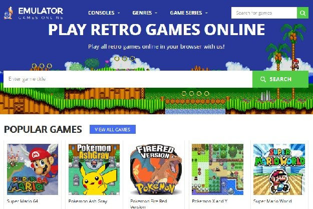 Emulator Games Online - Παίξτε δωρεάν Mario, Pokemon και άλλα αγαπημένα παλιά παιχνίδια μέσω browser