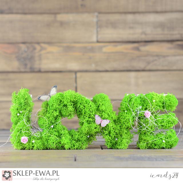 Drewniany napis - LOVE