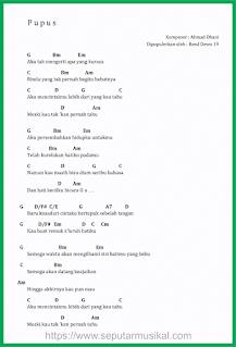 chord lagu pupus band dewa 19