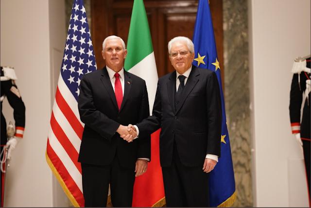 روما، رئيس الدولة الإيطالية، ماتّاريلّا، يستقبل نائب الرئيس الأمريكي ويناقش معه الأزمة في ليبيا والرسوم الجمركية
