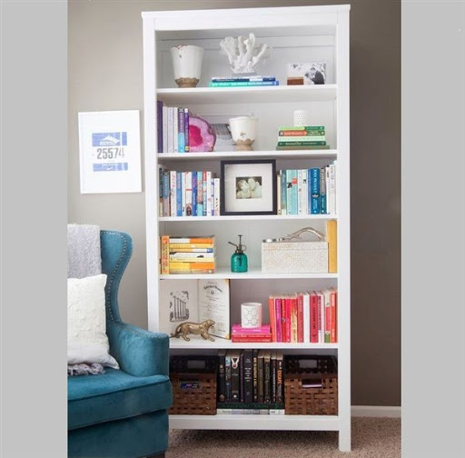 wood bookcases white