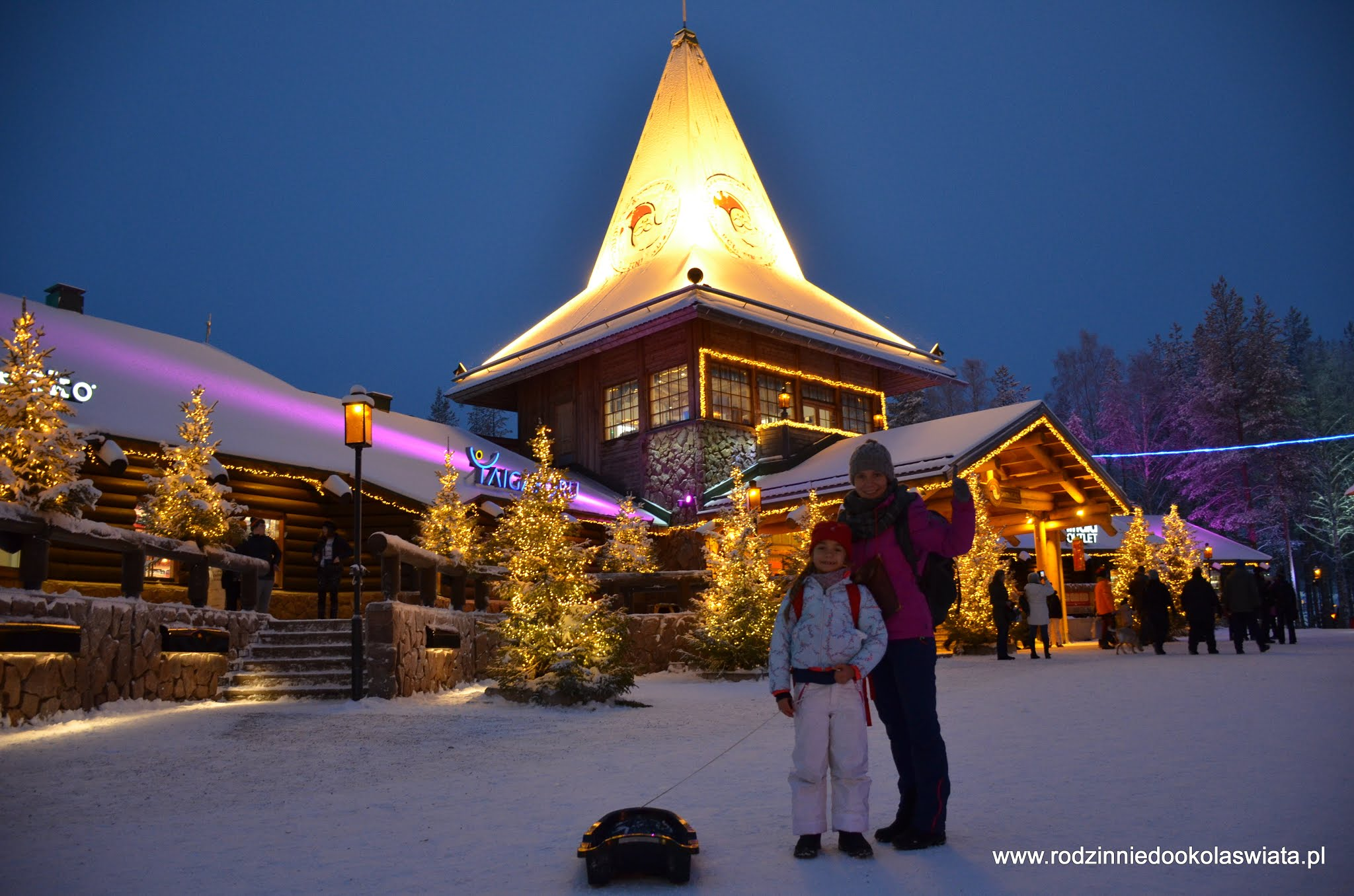 Rovaniemi z dzieckiem- Z wizytą u Świętego Mikołaja