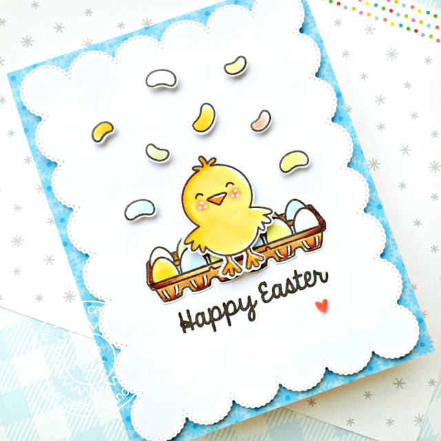 Sunny Studio Stamps: A Good Egg Frilly Frame Dies Easter Themed Card by Franci Vignoli
