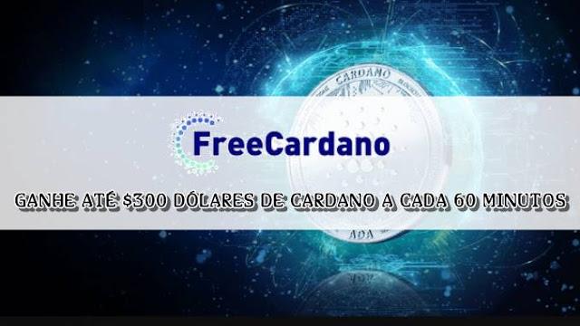 FreeCardano: Entenda como funciona! Ganhe vários Cardano grátis