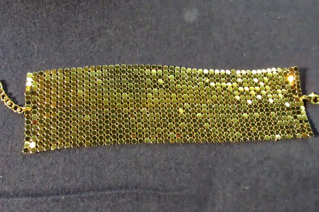 Avon Jewelry Gold Mesh Bracelet My Take Presented By P