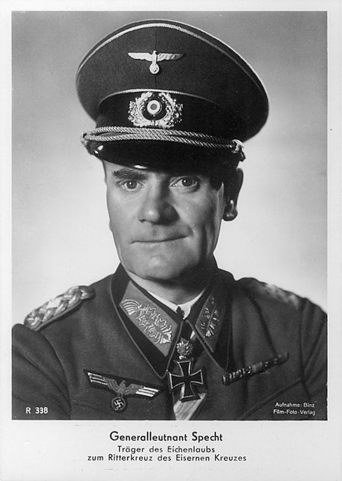 Karl Wilhelm Specht Ritterkreuzträger Knight Cross Holder Postcard