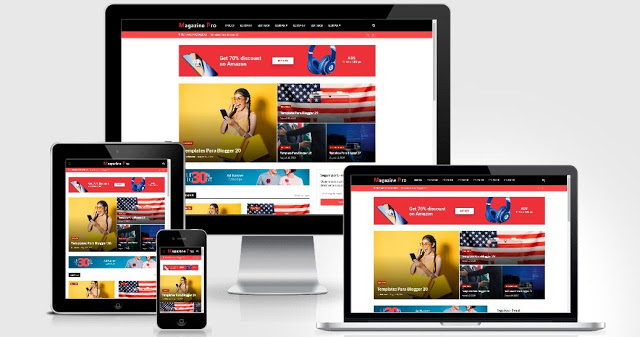 Blogger template magazine pro