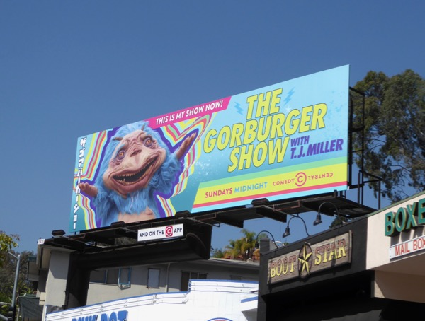 Gorburger Show TJ Miller billboard