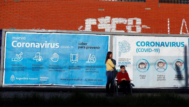 Argentina confirma cinco nuevas muertes por coronavirus y el total de decesos aumenta a 42