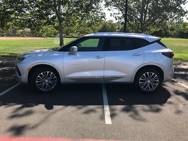 Side view of 2019 Chevrolet Blazer Premier AWD