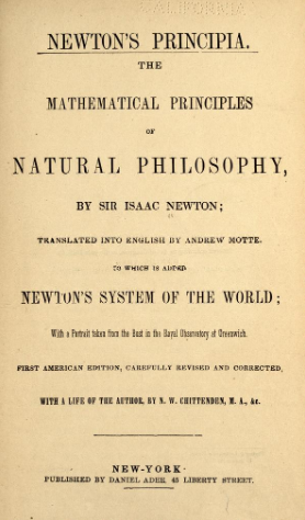 Newton's Principia : the mathematical principles of natural philosophy by Newton in PDF