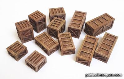 Cajas de mercancías