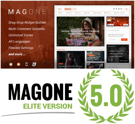 MagOne Elite - V5.0.4 Responsive Newspaper & Magazine Template