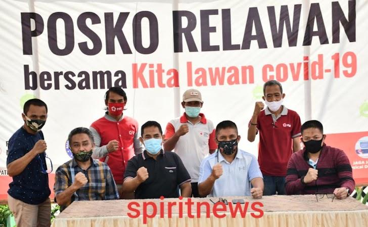Kasdam Hasanuddin Menghampiri Posko Relawan Bersama Kita Melawan Covid-19 Kab. Takalar