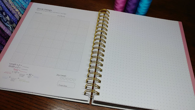 Plan to Quilt includes both graph paper and a dot grid for drawing, coloring, and note taking