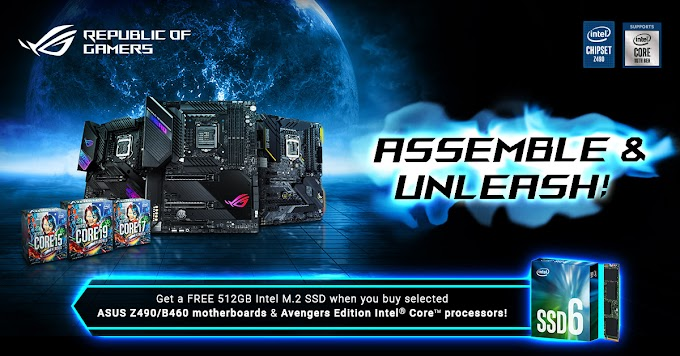 ASUS Announces FREE 512GB NVMe SSD Promotion for Intel Avengers CPUs and 10th Generation Motherboards
