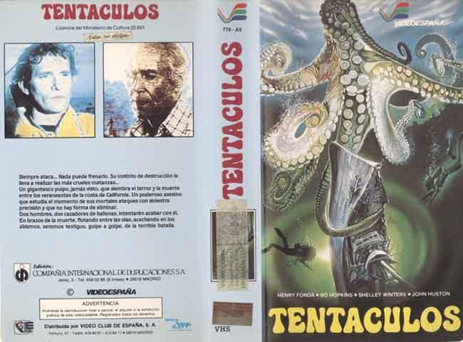 Tentáculos, carátula VHS España