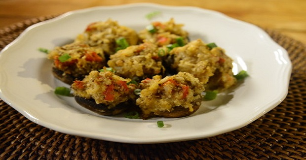 King Crab Stuffed Mushrooms  Recipe