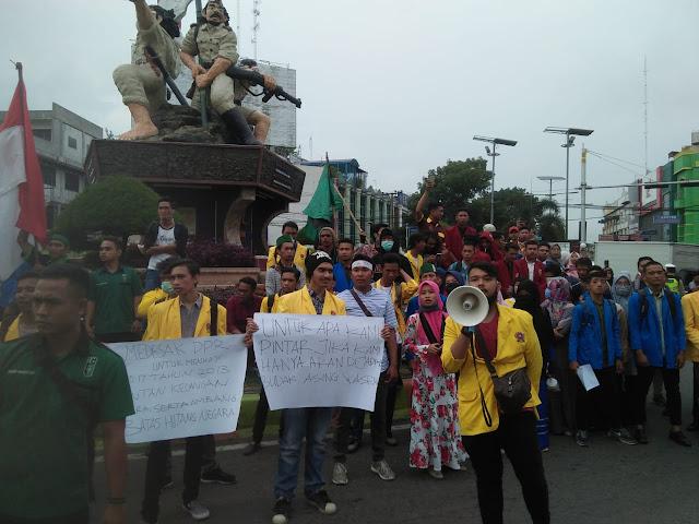 Himpunan Mahasiswa Se-Kota Binjai Gelar Aksi Tuntut Kinerja Pemerintah