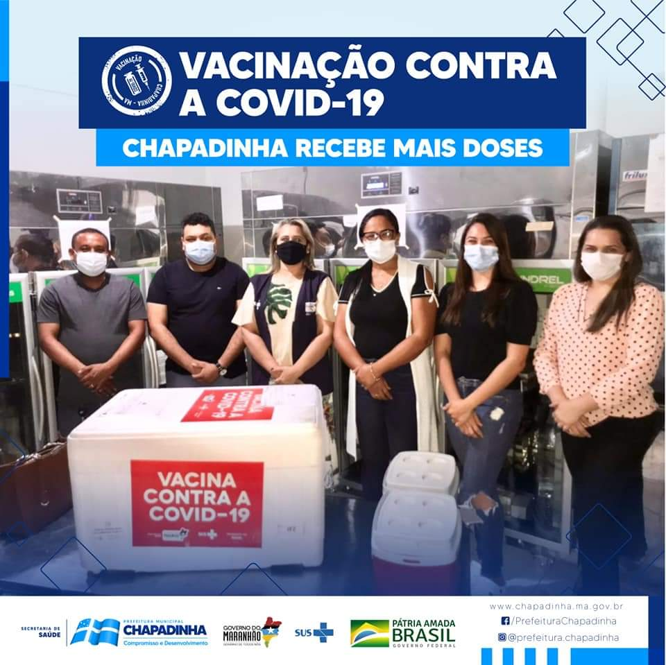 CHAPADINHA | Prefeitura recebe mais doses da vacina contra a Covid-19 e anuncia vacinação em trabalhadores da Educação.