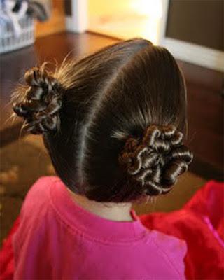 diseños de peinados de navidad para niñas recogido