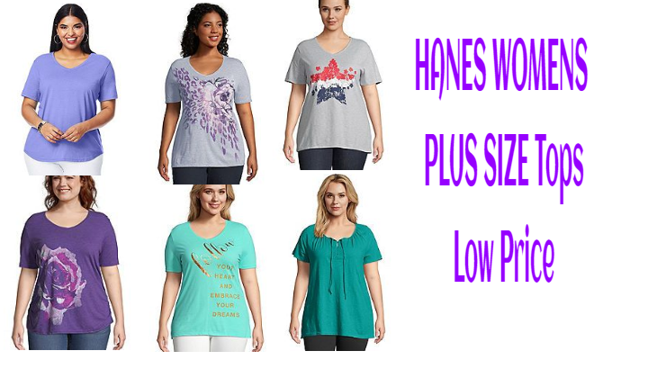 HANES WOMENS PLUS SIZE Tops