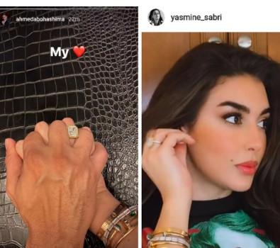 خطوبة رجل الأعمال  أحمد أبو هشيمة والفنانة ياسمين صبري