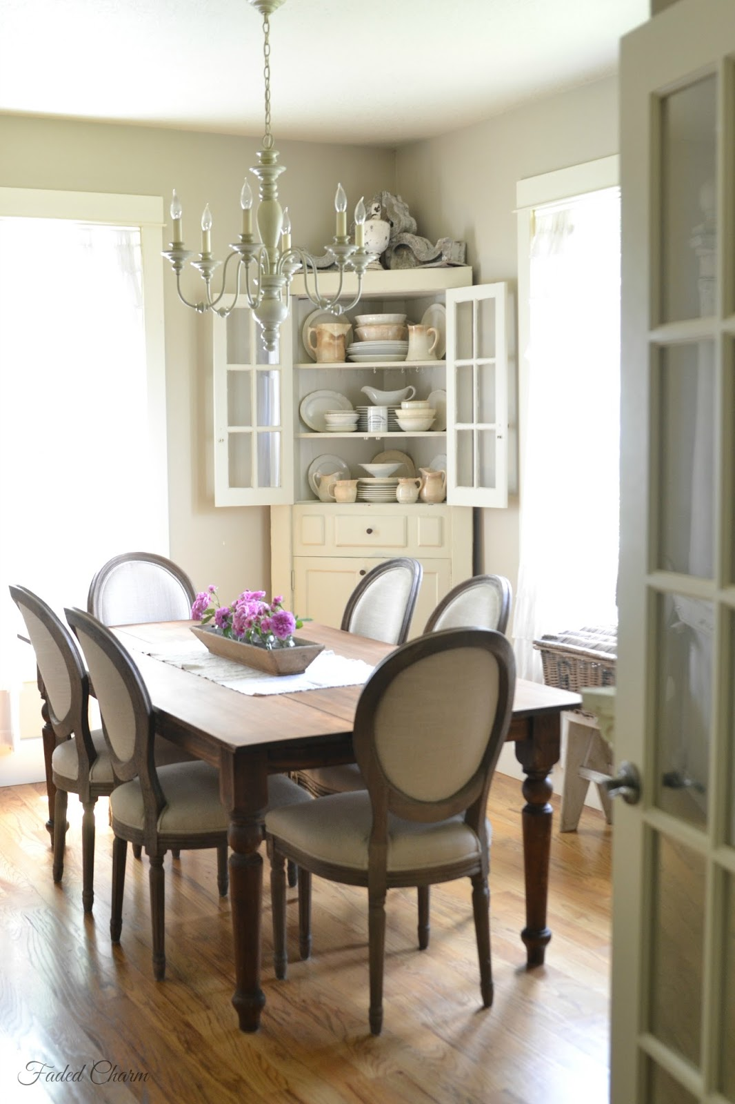 Faded charm for Old fashioned dining room tables
