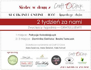 Wyróżnione prace w konkursie Craft O'clock