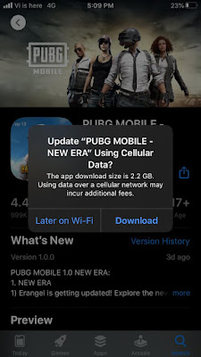 PUBG Mobile 1.1 for iOS devices download